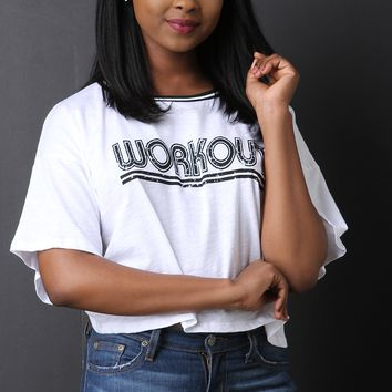 Workout Boxy Short Sleeves Crop Tee