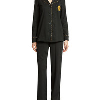 Lauren Ralph Lauren Notch Collar Pajama Set