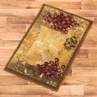 "Accent Rug Vineyard Grape Grapes Tuscan Rustic Home Decor 22""x 36"" Country NEW"