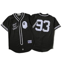 'BAPE' Sports On Sale Hot Deal Jacket Short Sleeve T-shirts Couple Baseball [211446497292]