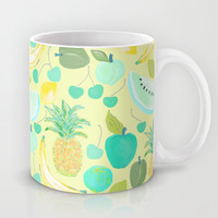 Fruit Punch Retro Aqua Butter Mug by Lisa Argyropoulos