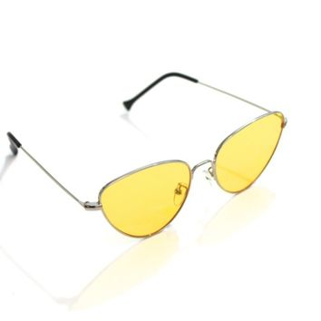 Yellow Cat Eye Sunnies