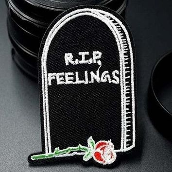 """R.I.P. Feelings"" Patch"