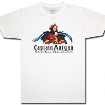 Captain Morgan T-Shirt White NWT Licensed & Official