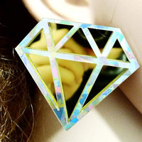 Gold Heart Holographic earrings