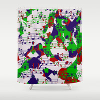 Notes abstract Shower Curtain by LoRo  Art & Pictures