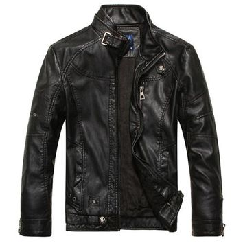 Elegant Biker Hip Hop Cool Leather Jacket