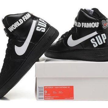 CREYNW6 Originals Nike AIR FORCE One 1 HIGH SUPREME SP AF1 HI Running Sport Casual Shoes 698696-010 Sneakers