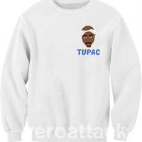 Tupac cartoon Unisex Sweatshirts