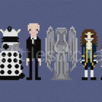 Pixel People - Doctor Who - Villains, Monsters, & Aliens - PDF Cross-stitch Pattern