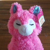 "NEW Pink Llama Plush Toy Shimmer Feet & Ears 8"" Llama Plush Stuffed Animal"