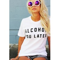 Graphic tees letter print shirts
