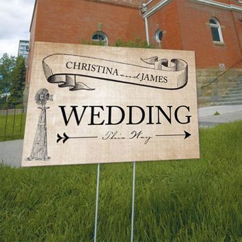 Rustic Country Wedding Directional Sign Berry (Pack of 1)