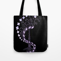 Whirl Tree Tote Bag by ES Creative Designs