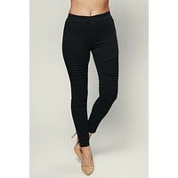 Start Your Engines Moto Pants (Black)