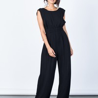 Easygoing Smocked Jumpsuit