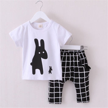 Summer Baby clothing set 100% Cotton boys baby set t shirt+Vest+pants undershirt Shorts,kids suit Children's clothes