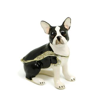 Boston Terrier Dog Trinket Box
