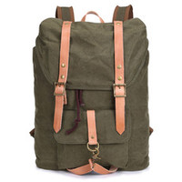 Vintage Outdoor Hiking School Canvas Backpack quality durable