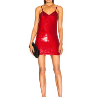 Ashish for FWRD Sequin Mini Dress in Red Glitter | FWRD