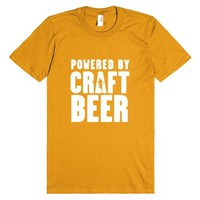 Powered By Craft Beer-Unisex Mandarin Orange T-Shirt