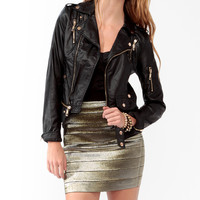 Zippered Moto Jacket