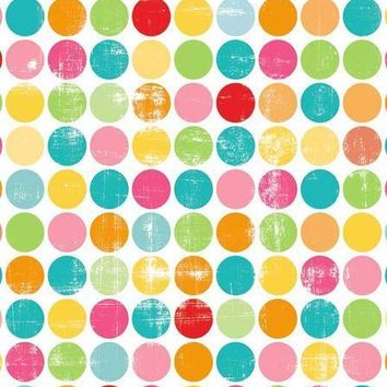 PRINTED COLORFUL DOTS BACKDROP 5x6 - LCPC1952 - LAST CALL