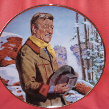 John Wayne, Pine Ridge Franklin Mint Heirloom Collectible Plate, HC6336 Limited Edition by Robert Tanenbaum
