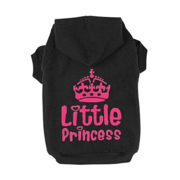 High Quality Princess Crown Printed Pet Dog Sweater Dog Hoodies Autumn Winter Dog Clothes Sweatshirt Hoodie Jacket Hooded LH8s
