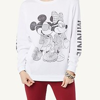 Mickey & Minnie Throwback Football Pullover