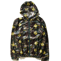 Spongebob fashion Hooded Zipper Cardigan Sweatshirt Jacket Coat Windbreaker Sportswear _ 9254