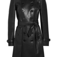 Burberry London|Ribbed leather trench coat|NET-A-PORTER.COM