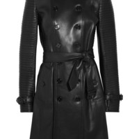 Burberry London | Ribbed leather trench coat | NET-A-PORTER.COM