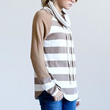 Perfectly Packaged in Stripes Top - Mocha