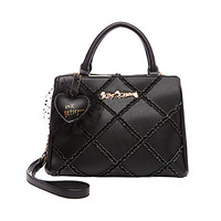 CROSS YOUR HEART SATCHEL: Betsey Johnson
