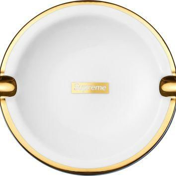 Supreme Gold Rim Ceramic Ashtray