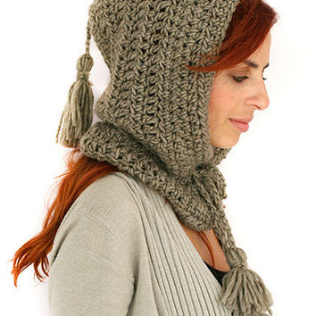 Hooded cowl, Crochet hooded cowl, Hooded cowl scarf, Scoodie Hooded Cowl, Hooded neckwarmer