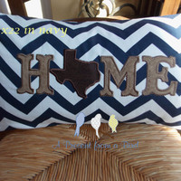 Texas Home Appliqued Pillow Cover