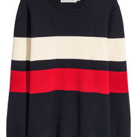 Fine-knit Cotton-blend Sweater - from H&M