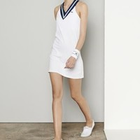 Sleeveless Technical V-neck Tennis Dress