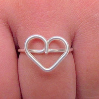 1 BFF Ring - Friendship Heart Ring - Gift for friend - Friendship gift idea -  - Friendship Ring  by Tiny Box
