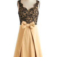 Live, Love, Lavender Dress in Gold | Mod Retro Vintage Dresses | ModCloth.com