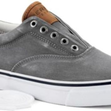 Sperry Top-Sider Striper CVO Salt Washed Twill Sneaker GraySaltWashedTwill, Size 13M  Men's Shoes