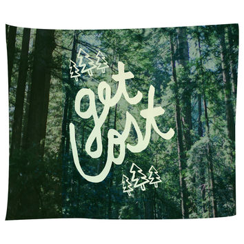 Get Lost Forest Tapestry