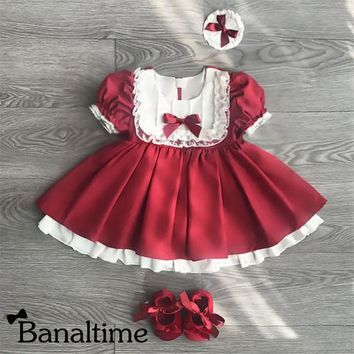 UK Toddler Kids Baby Girls Party Pageant Bridesmaid Lace Princess Formal Dress
