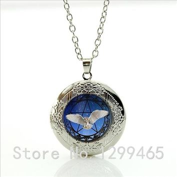 2015 New Hot Movie Film Jewelry Hunger ames Necklace Amera and Europe pop hunger games vintage locket Pendant necklace WNK57