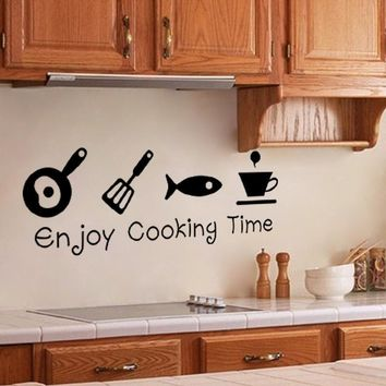 Enjoy Cooking Time Kitchen Restaurant Wall Stickers