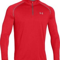 Under Armour Tech Quarter Zip for Men in Risk Red 1242220-602