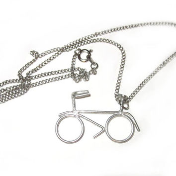 Bicycle Necklace Bike Lovers Necklace Bike Necklace Cyclist Necklace Bicycle Gift