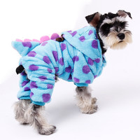 Pet Clothes Dragon Costume Jumpsuits Dog Clothes Puppy Cat Hooded Jacket Chihuahua Cute Warm Winter ClothingFor Small Medium Pet